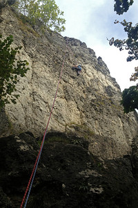 Climbing in the Frankenjura