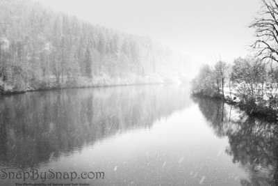 Lech River in Snow