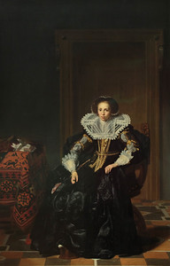 Portrait of a Lady by Thomas de Keyser (1596-1667, Amsterdam)