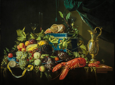 Still life with fruit and lobster by Jan Davidsz de Heem, 17th Century Dutch artist
