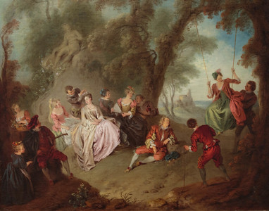 The Swing by Jean-Baptiste Pater (1695-1736, France)