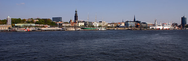 Hamburg from across the Elbe