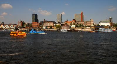 Hamburg from across the Elbe
