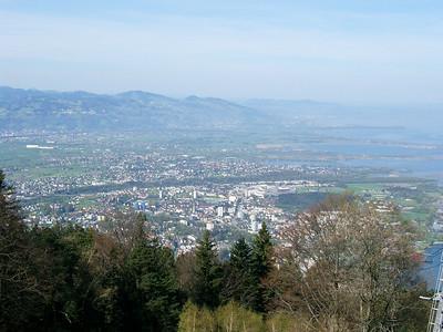Up a mountain with the Pfänderbahn in Austria