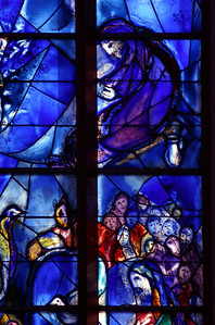 Church St. Stephan with windows by Marc Chagall