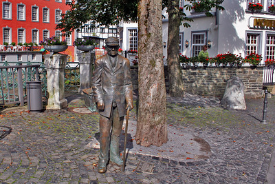 One of the many sculptures in Monschau.