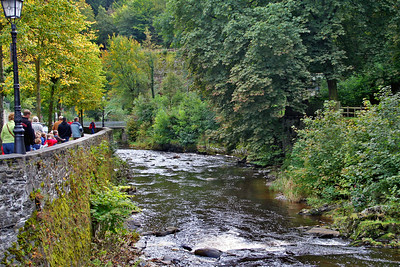 The roads of the Old Town of Monschau are too narrow to park a car - Ed parked in parking area of shopping centre and we walked by the River Rur into the Old Town