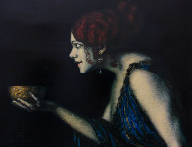 Tilla Durieux depicting Circa by Franz von Stuck, 1913