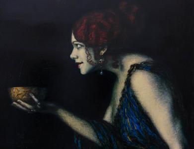 Tilla Durieux depicting Circa by Franz von Stuck, 1913
