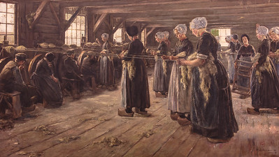 Flax Barn at Laren by Max Liebermann, 1887