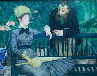 In the Conservatory by Edouard Manet, 1879