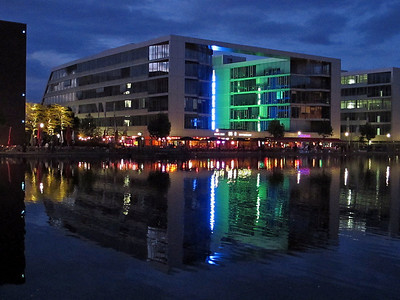 "Innenhafen in Duisburg during ""Ruhrlights"" festival"