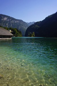 Swimming at Königssee