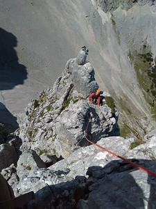 Rock climbing in Oberreintal