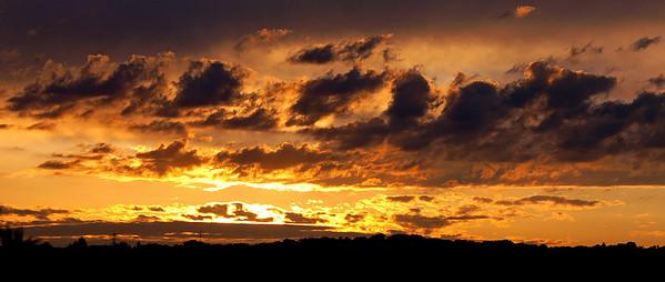 Sunrise viewed from Jörg's home in Walheim
