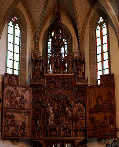 Besigheim - famous wooden altar from the 16th century