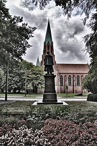 """Wilhelmshaven  """"Kaiser-Wilhelm"""" memorial and the garrisonchurch  creativecommons - by-nc-nd"""