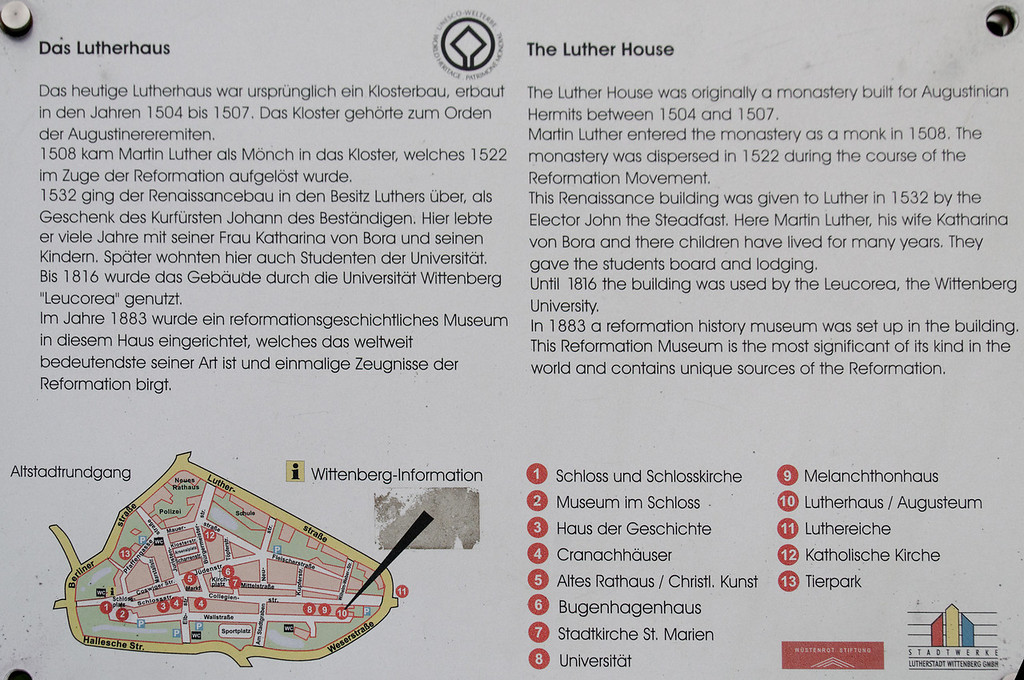The Lutter house<br /> Wittenberg, Alemanha