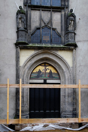 porta onde Martinho Lutero pregou suas 95 teses Igreja do Castelo de Wittenberg Wittenberg, Alemanha