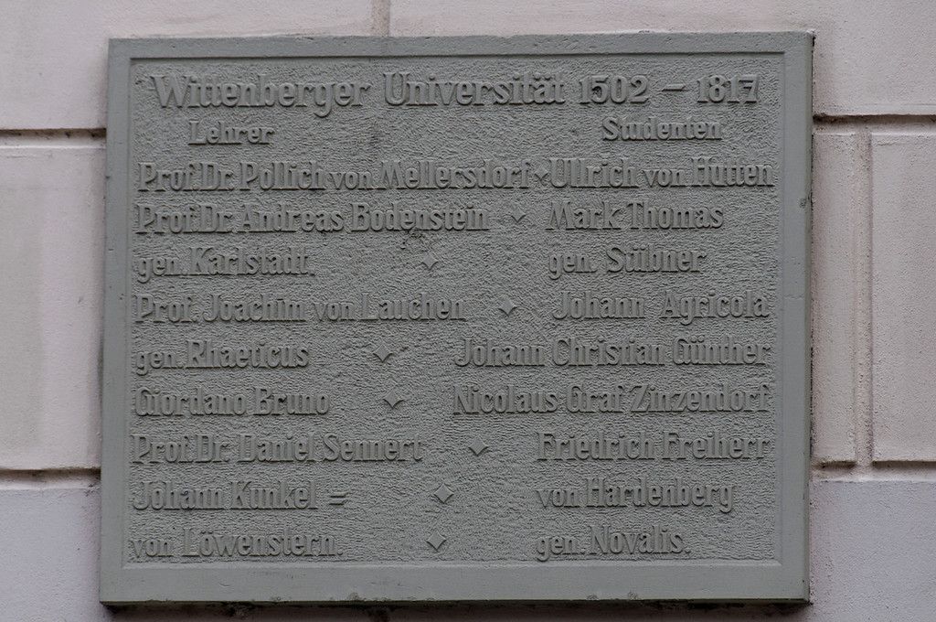 University<br /> Wittenberg, Alemanha