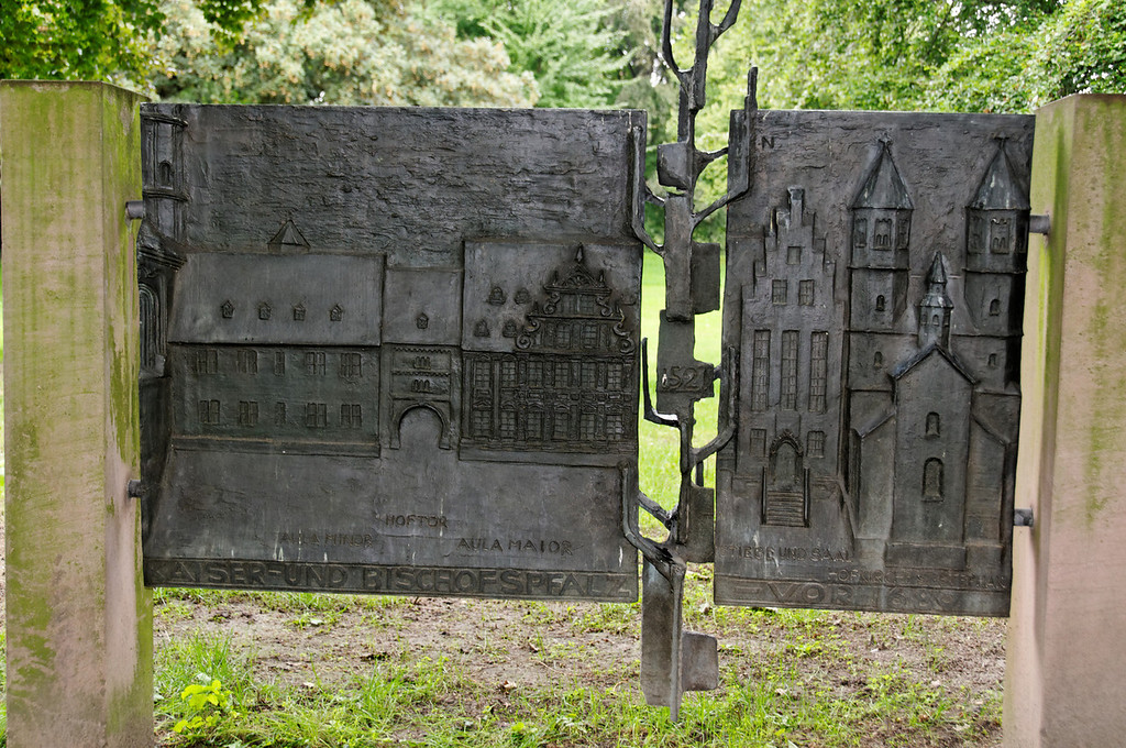 Heylshof Garden<br /> The Imperial Palace where Luther stood his ground and was declared an outlaw in 1521 was destroyed in 1689. The site is occupied by the Heylshofgarten, where a plaque commemorates the great Reformation event.<br /> <br /> Worms, Germany