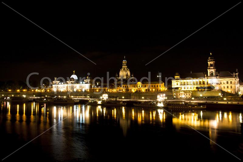 Riverfront at night
