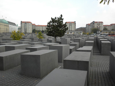 Monument above the Holocaust Museum, Berlin