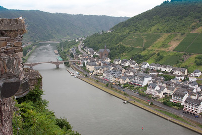 Cochem, Germany looking down from the Reichsburg Castle