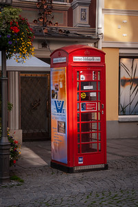Red Telephone Box in Fussen