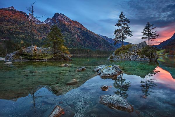 Alps in autumn.
