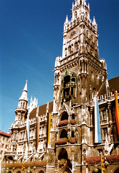 Munich City Hall.<br /> ©1981 Thomas Stanziale. All rights reserved. Camera: Minox GL
