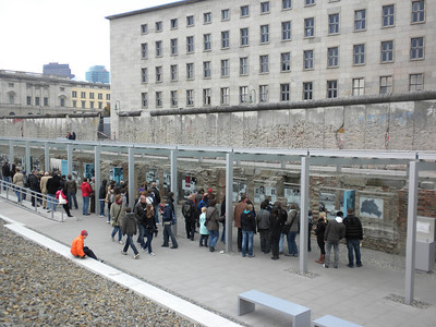 Open air museum on the atrocities of the Third Reich. next to the Berlin Wall