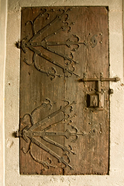 A medieval door at Marksburg Castle.
