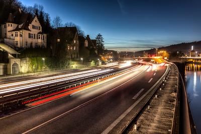 Its getting dark in Esslingen (HDR)