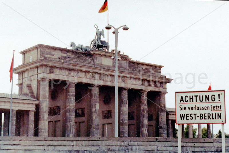 1967 Brandenburg Gate  and the Wall from West Berlin