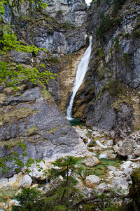 Marienbrücke Falls at Pöllat Gorge Schwangau, Germany