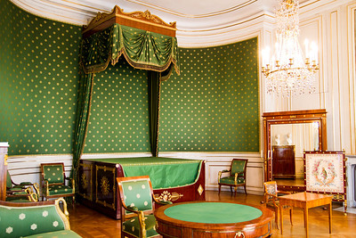 Queen's bedroom (birthplace of Ludwig II) Nymphenburg Palace Munich, Germany