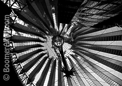 Potsdamer Platz roof. Berlin, Germany.