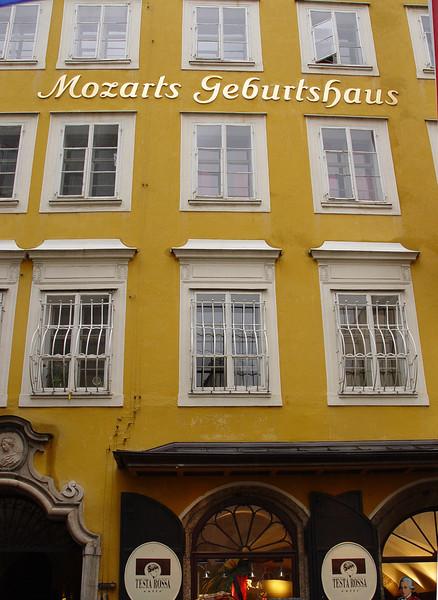 Mozart's birthplace (Salzburg)