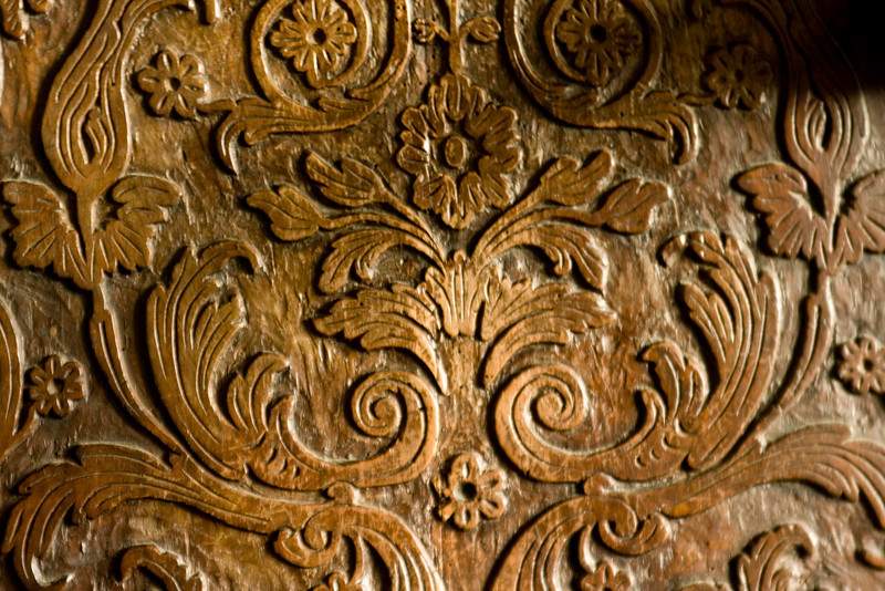 Detail of a chair at Marksburg Castle.