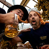 Paul McEvoy and Ivan Derezin having fun at Oktoberfest, Wanderlust Bike Tours