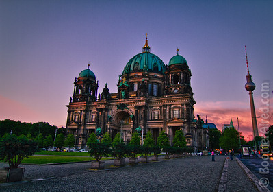 Berliner Dom at sunset. Berlin, Germany.