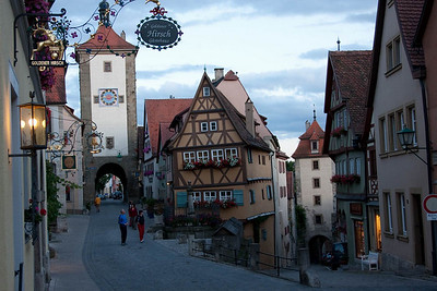 Historical Rothenburg odt on the Romantic Road. Fantastic town.