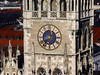 Germany - Bavaria - Munich - Marienplatz - town hall clock