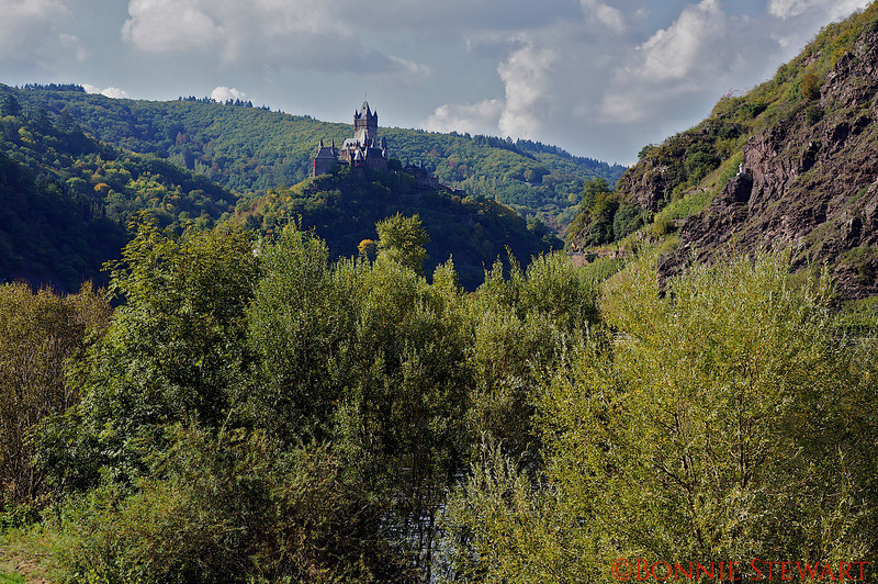 Castle view in the Rhine River Valley