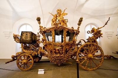 New dress coach of King Ludwig II Marstall Museum at Nymphenburg Palace Munich, Germany
