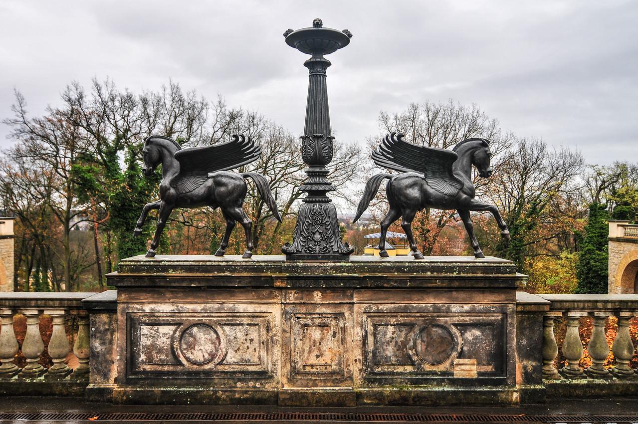 Horses Statues on the Belvedere on the Pfingstberg