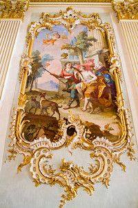 Stone Hall fresco Nymphenburg Palace Munich, Germany