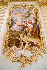 Stone Hall fresco Nymphenburg Palace Munich, Germany