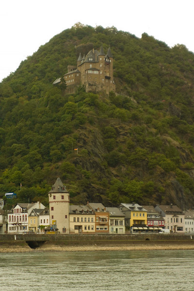 Germany is lousy with castles. This is from the boat ride up the Rhine.